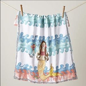 ❤️Anthropologie merfolk mermaid dish bathroomtowel